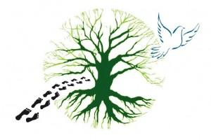 trek salam montagne logo nature pas arbre oiseau colombe