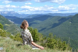 méditation contemplation nature montagne